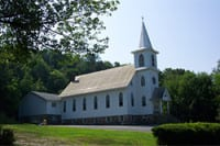 A church stands in pine island ny | pine island plumbing